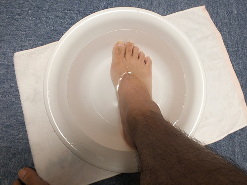足を浸ける